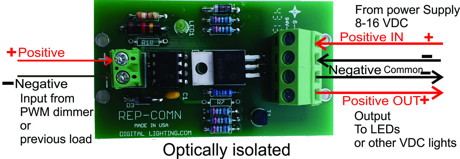 Led Dimmers Common Negative